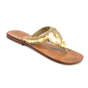 MYSTIQUE Mother of Pearl Shell/Agate Flip Flops